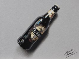 Bottle of Guinness DRAWING by Marcello Barenghi by marcellobarenghi