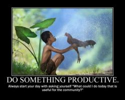 Poster - DO SOMETHING PRODUCTIVE by E-n-S