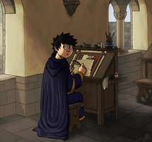 Alone in the Scriptorium by Limeknight