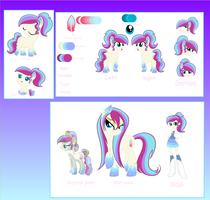 Crystal Waters ref sheet for mcmuffin4353 by SugarMoonPonyArtist