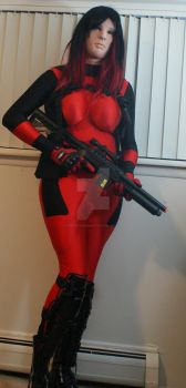 Lady Deadpool by synthetichumanity