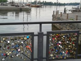 Locks of Lovers' Bridge by Magdyas