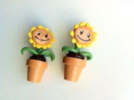 Plants vs. Zombies Earrings by LaggyCreations