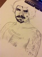 Simon Neil - WIP by woodnutmegg