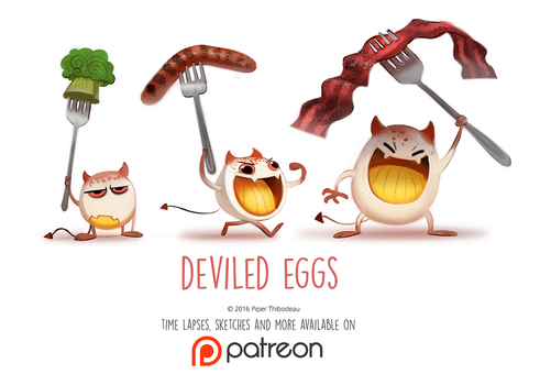 Daily Paint 1465. Deviled Eggs by Cryptid-Creations