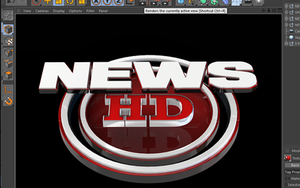 News Broadcast Cinema 4D 3D Text Files by loswl