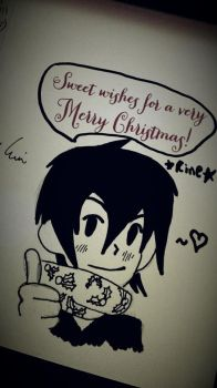 Rine Wishes You A Merry Christmas by DarkAngelYoshi