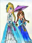 Hanbok Rosalina and Chiko by Derochi