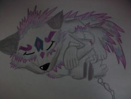 my wolf XD by Thedeviousskittle