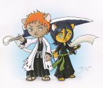 Bleach Cats Color by LordGuardian