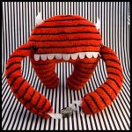 MoochieMoo Plush Red With Stripes by MonstriBoo