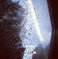 Bus View - Georgia Pacific in the Rain by wiebkefesch