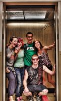 Friends in an Elevator by autumnashes1515