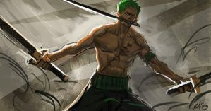 zoro sketch by richytru