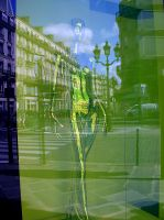 Paris reflected in shopwindow by April-Mo