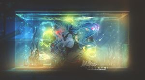 Miku | Waterlife | Collab with my Uke by oOnadileeOo