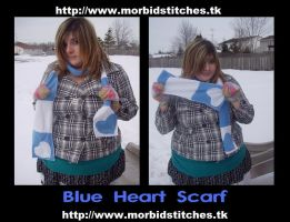 Blue Heart Scarf by morbid-stitches