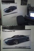 My Ferrari poster My work area by ragingpixels