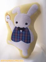 White Rabbit Flat Doll by shiroiyukiko