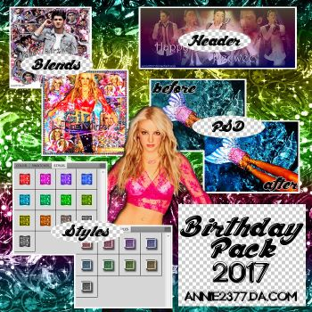 Pack #03: Birthday Pack 2017 by annie2377
