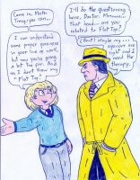 Dr Arnold and Dick Tracy by Jose-Ramiro