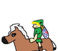 Young Link And Epona! by TheAmazingNSixtyfour