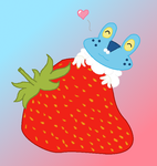 .: PKMNation - Keroppi Loves Strawberries :. by EpiclyAwesomePrussia