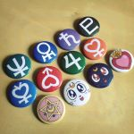Sailor Senshi Pinback Button Set - Sailor Moon by Monostache