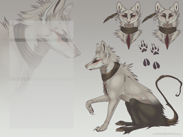 designs V: scaly water wolf by florawolf