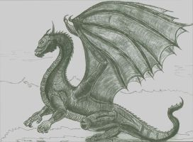 Saphira From Eragon by jvel4073