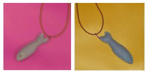 reversible sardine necklace by FrostedMayhem