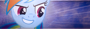 Rainbow Dash with Awesome Face Sig by SandwichDelta
