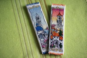 Bookmarks - Greek Island and Spanish Hill Town by happy96