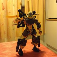 Toa Boltrax, Toa of Lighting WIP 04 by MrBoltTron