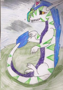 dragon and newt by cassi2009