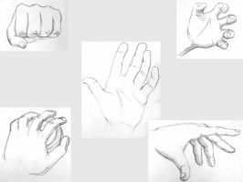 Graphite Sketches - Hands by himynameiznate