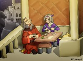 OC and Iroh Avatar style by Bizmarck