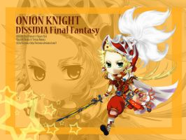 Dissidia FF: Onion Knight by Fortranica