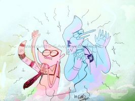 YIYIYIYIYI YAAAA Regular show by gabs94