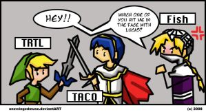 SSB: Who Threw That? Comic by OneWingedMuse