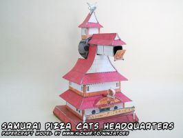 SPC headquarters papercraft by ninjatoespapercraft