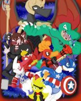 LatinGroup Avengers by GlassesGator