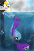 :UsUk: The kiss of a Mermaid by xDragonBloodx