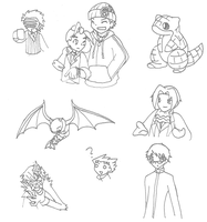 Sketch Dump num.1 by DragonessBahamut