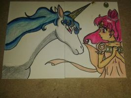 ChibiUsa and Pegasus .:Double ACEO:. by Sunnibutt