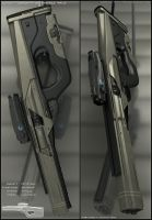 SAIGA - rifle concept by peterku