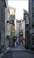A Street in Saint Malo by sags