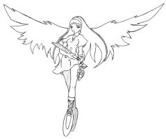 angel lineart by N647