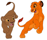 sarabi and mufasa cub version by kenchidou410
