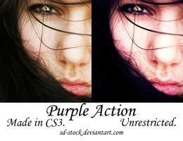 Purple Action by sd-stock
